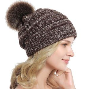 Coffee + Cream 5⭐️ Rated Slouchy PomPom Bea